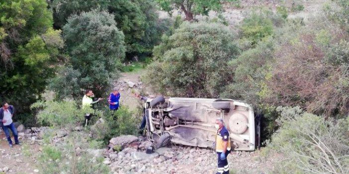 Otomobil şarampole yuvarlandı, sürücü öldü