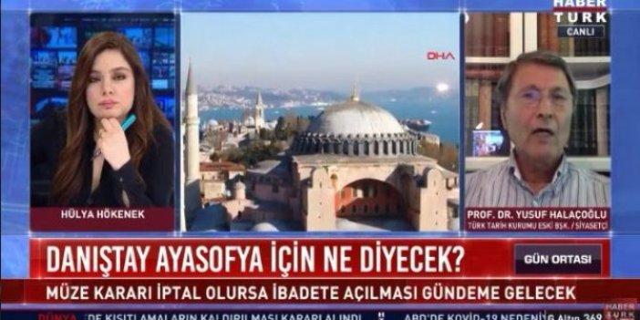Yusuf Halaçoğlu Ayasofya belgesini canlı yayında açıkladı