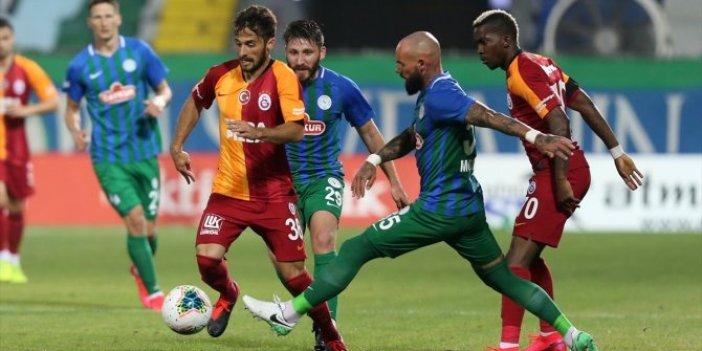 Galatasaray Rize'de ağır yaralı: 2-0