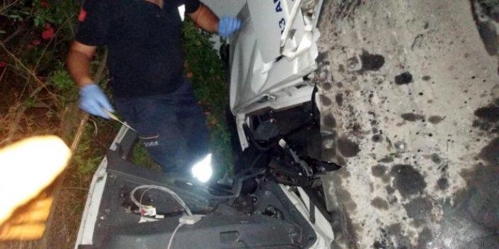 Osmaniye'de, otoyolda kaza: 2 ölü, 1 yaralı
