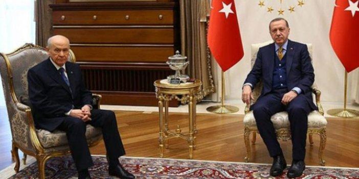 Erdoğan ile Bahçeli görüşmesi başladı