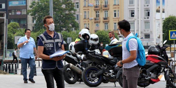 İstiklal Caddesi'nde maske sorumsuzluğu