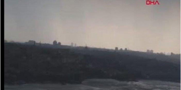 İstanbul'da gündüz geceye döndü! Korkutan görüntü