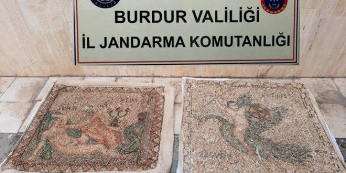 Tarihi mozaikleri satmak isteyen şahıslar tutuklandı
