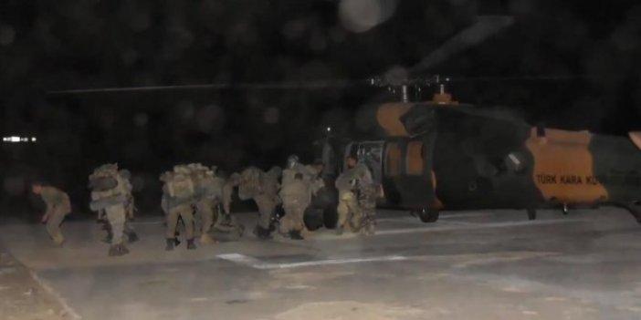 Flaş... Flaş... Pençe- Kaplan operasyonu başladı: Türk komandosu Haftanin'de