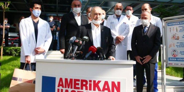 Hasta yatağından kalktı stadın yolunu tuttu; Galatasaray'a Mustafa Cengiz morali