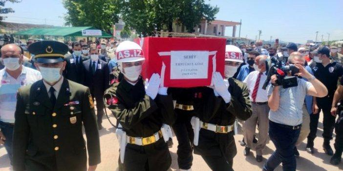 Pençe Harekatı şehidi Piyade Uzman Onbaşı Köse, son yolculuğuna uğurlandı