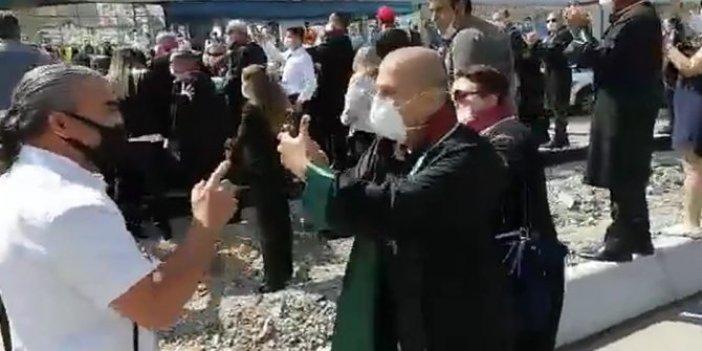Polis itti, avukat direndi: İki kanun adamı böyle karşı karşıya geldi