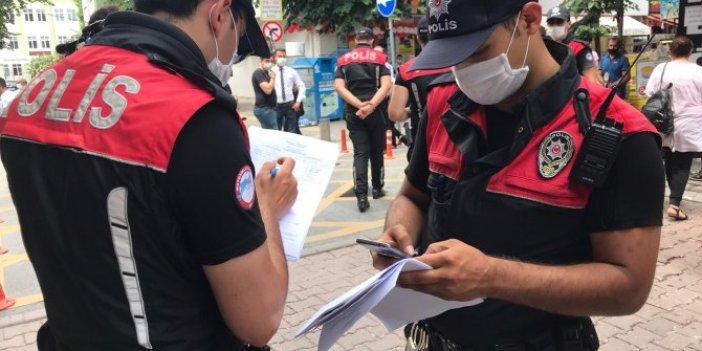 Maske kullanmayan vatandaşlara ceza kesildi