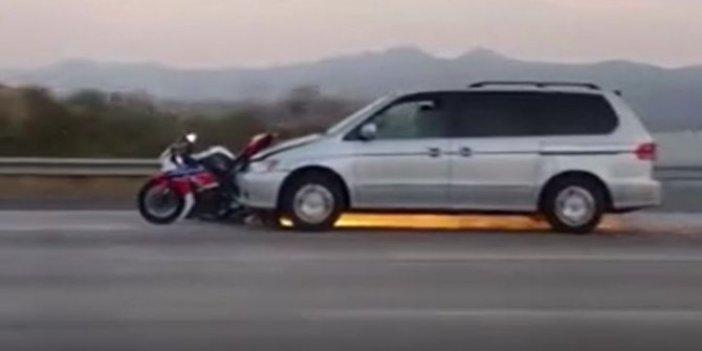 Alevler saçan araçla ölüme yolculuk