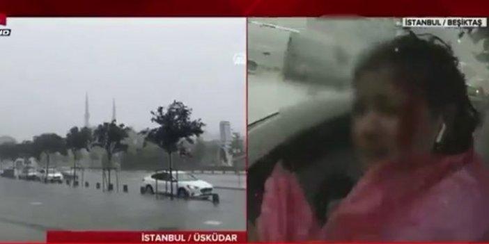 A Haber'in kadın muhabiri canlı yayında kanlar içinde kaldı
