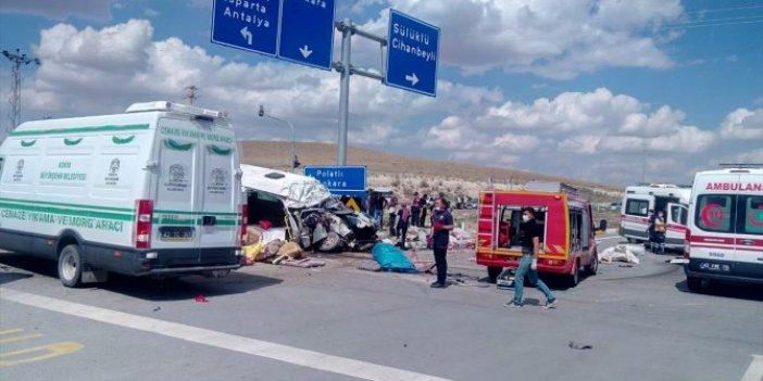 Son dakika... Son dakika... Konya'da feci kaza: Çok sayıda ölü ve yaralı var