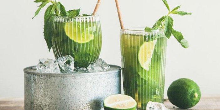 Kilo verin: Lezzetli ve yararlı yeşil çay limonata tarifi