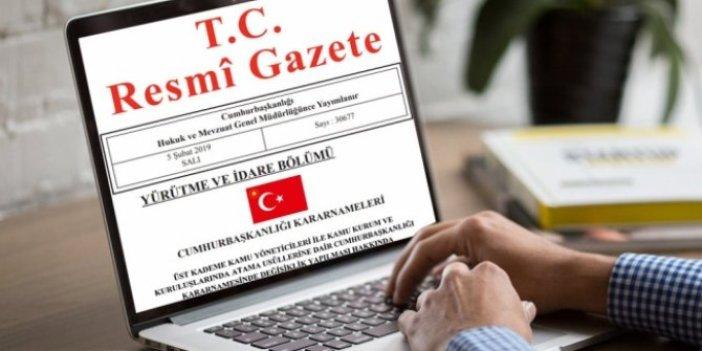 Resmi Gazete'de yayımlandı, Cumhurbaşkanı Erdoğan Yeni Atama kararlarını imzaladı