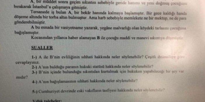 Hukuk fakültesi sınavında skandal soru: O profesör 14 yaşındaki çocuğu böyle evlendirdi!