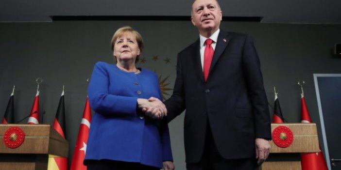 Son dakika: Cumhurbaşkanı Erdoğan, Merkel ile görüştü