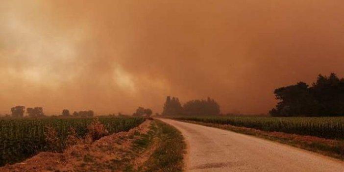 Gelibolu'da dumanlar tüm boğazı kapladı