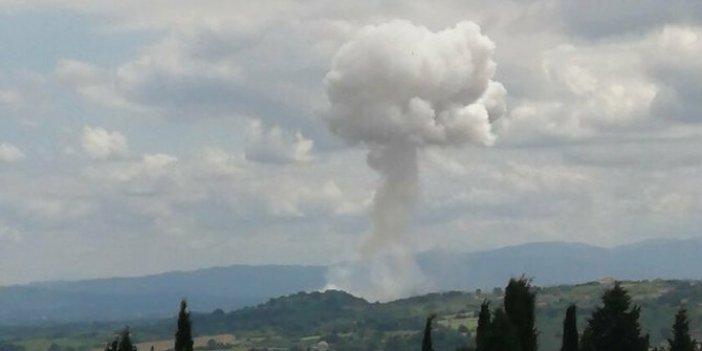 Sakarya Taşkısığı'ndaki patlamadan ilk görüntüler
