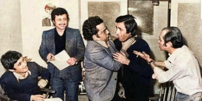Halit Akçatepe, Metin Akpınar, Zeki Alasya, Kemal Sunal ve Ertem Eğilmez aynı fotoğrafta