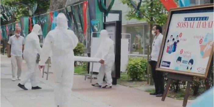 Yolda yürüyen vatandaşlar bir anda neye uğradıklarını şaşırdı: Hemen maske taktılar