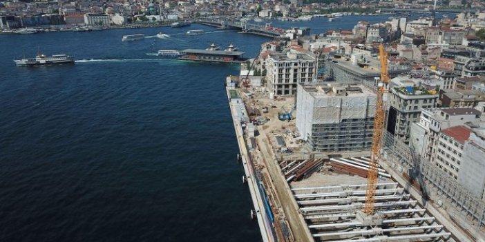 Yasaklarda bile inşattı süren Galataport'ta Acun'un Survivor'u için iki gün paydos