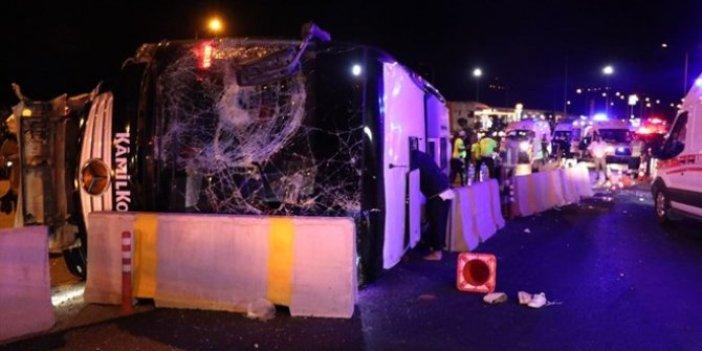 Bursa'da yolcu otobüsü devrildi: 1 ölü