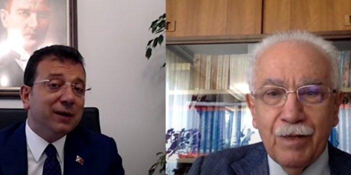Doğu Perinçek ve Ahmet Davutoğlu'ndan Ekrem İmamoğlu'na tam destek