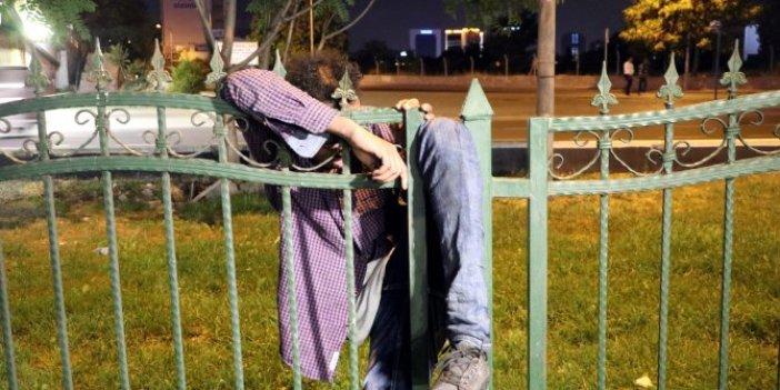 Ankara'da bir garip olay, horul horul uyuyordu