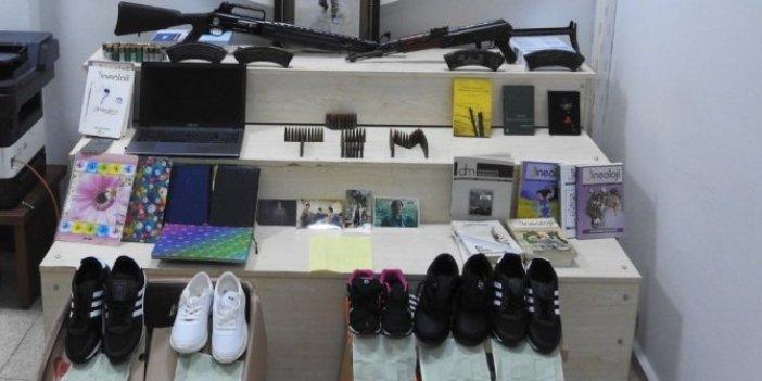 Polisin dikkatiyle 14 kişi yakalandı! Cezaevindeki PKK'lılara ayakkabı tabanında talimat