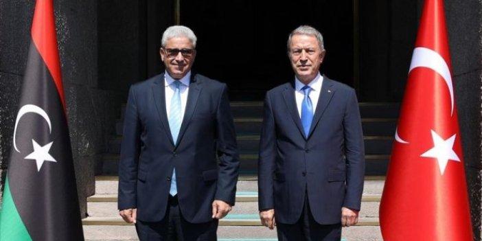 Hulusi Akar, Libya İçişleri Bakanı ile görüştü