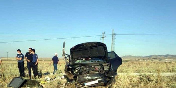 Kıbrıs gazisi ve eşi kazada kurbanı