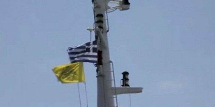 Yunanistan'a şirin görünmek için kantarın topuzunu kaçırdılar: Amerikan gemisinde Bizans bayrağı