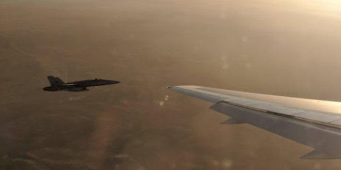 İran yolcu uçağına jet tacizi: Acil iniş yapan uçakta yaralılar var