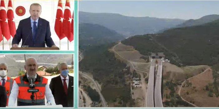Cumhurbaşkanı Erdoğan,  Amasya Çevre Yolu Açılışı'nda konuştu