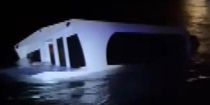 27 kişinin içinde bulunduğu tekne alabora oldu!Gemiyi önce kaptan terk etti iddiası