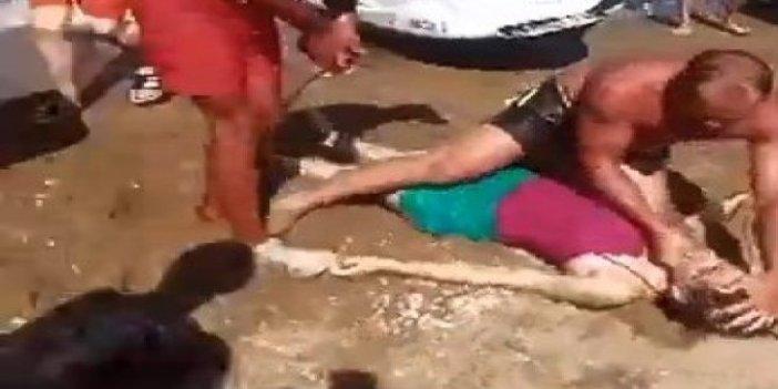 Rip akıntısına kapılan kız kurtarılamadı