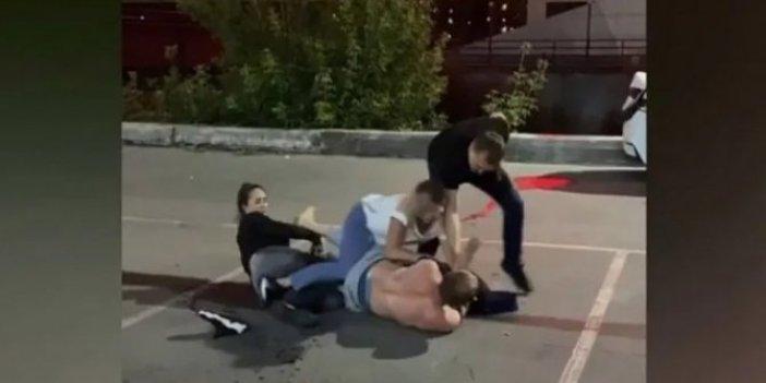 Boksör kadın ile boksör erkeğin kavgasında yoldan geçen öldü