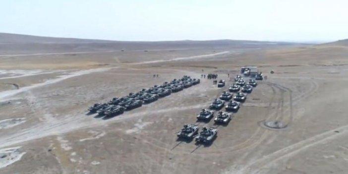 Tanklar, Ataklar hepsi sahada! Bu görüntüler büyük ses getirdi! Dosta Güven Düsmana Korku veren tatbikat! Azerbaycan'da gövde gösterisi