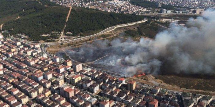 Maltepe'de askeri alandaki yangın kontrol altına alındı