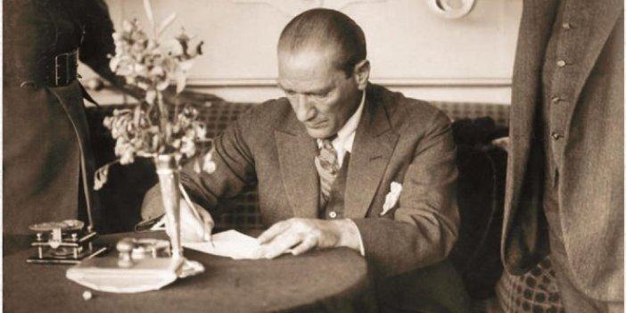Atatürk tarafından imzalanan belge 90 yıl sonra yeniden ortaya çıktı