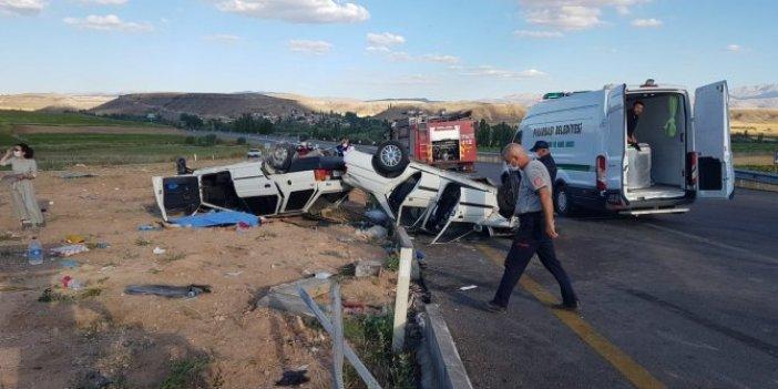 Kayseri- Kahramanmaraş yolunda feci kaza: 1 ölü, 9 yaralı