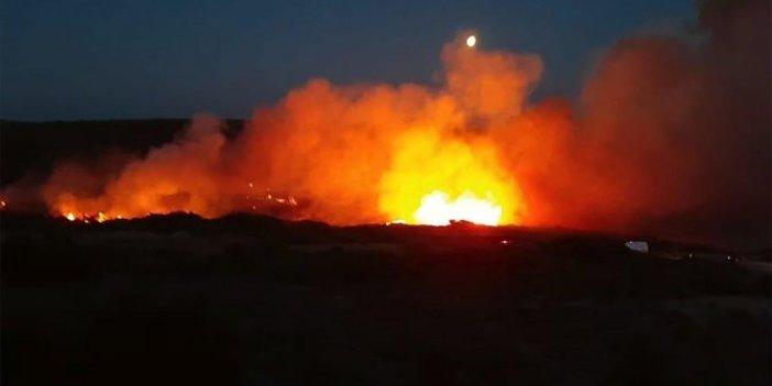 Bozcaada'da yangın: 4 hektar alan zarar gördü