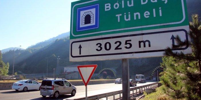 Bolu Dağı Tüneli'nden bayramda 621 bin araç geçti