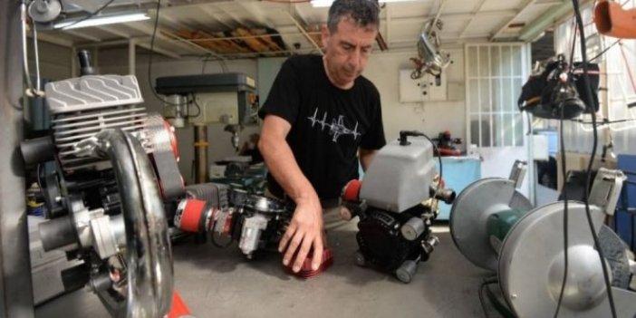 Bursalı girişimci ürettiği ay yıldızlı motorları dünyaya ihraç ediyor