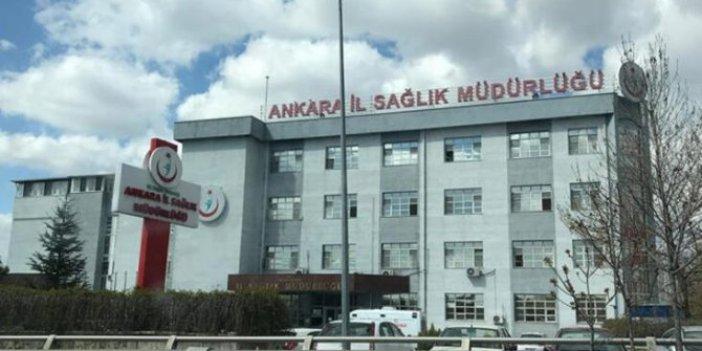 Ankara İl Sağlık Müdürlüğü'nden kritik açıklama