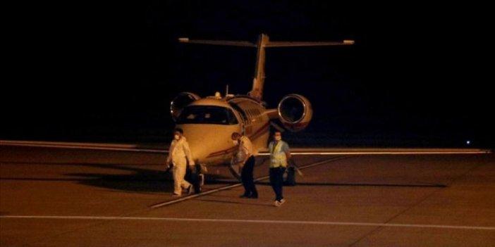 Rusya'daki korona hastası ambulans uçakla Türkiye'ye getirildi
