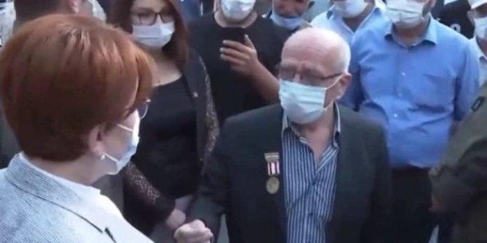 """Akşener ile Kıbrıs Gazisi arasında diyalog; """"Biz hakikaten sürünüyoruz"""""""