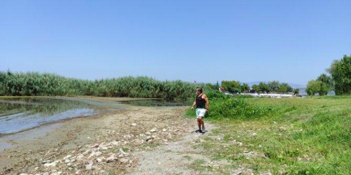 İznik Gölü 20 metre çekildi! Vatandaşları korku sardı