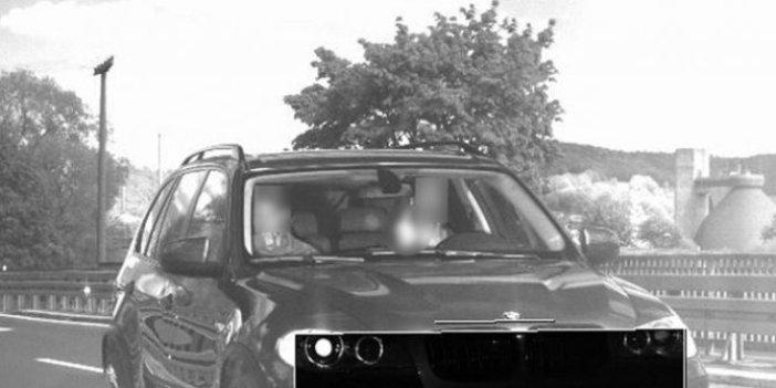 Radar kamerasına öyle bir şey yaptı ki cezası 75'e katlandı
