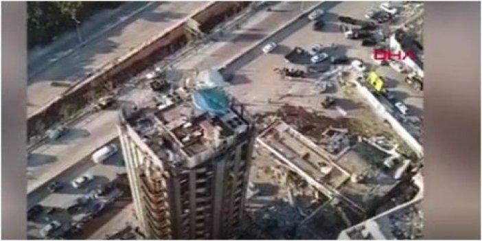 Havadan çekildi: Beyrut'tan korkutan görüntüler